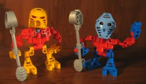 Bionicle Custom: Jaller and Takua by AleximusPrime
