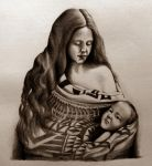 Native American Woman and Child by JonnyWynne