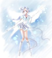 Sailor Mercury sketch by kaminary-san