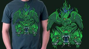 Cerberus and Echidna green by missmonster