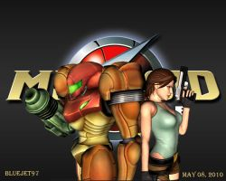 XNA Lara Samus And Lara Croft by Bluejet97