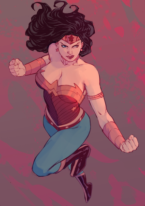 Wonder Woman ~ Colour / Lines by Fred Benes by michaeldoig