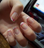 NA: Spotted french nails by BeepBeep22