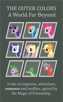 The dragon, the lizard and seven ponys. by NanKnight