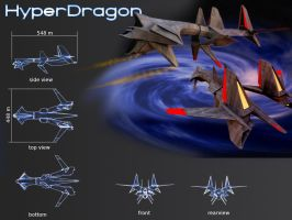 Hyper Dragon battle cruiser by koleos33