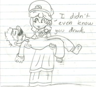 First Drunk Mario by daisyfan2001