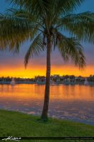 Sunset-at-the-Lake-Palm-Beach-Gardens-Downtown by CaptainKimo