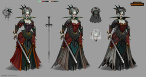 Total War: Warhammer Concept Art - Vampire Lady by telthona