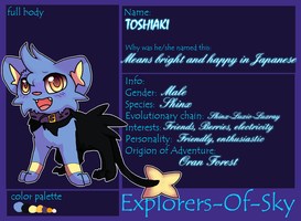 [Explorers Of Sky] Toshiaki by amiirou