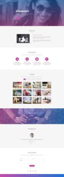 Standout - Free Multipurpose One Page Template by templatewire