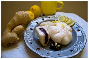 Chinese Bao with blueberry1 by AlafairAsphyxiation