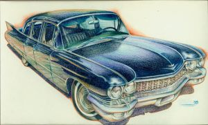 Cadillac in blue by MJBivouac
