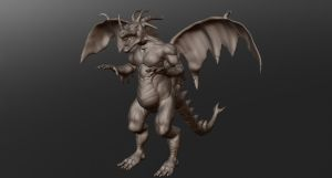 Drarex_The 4 Horn Dragon by Hafique84
