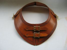 Leather Gorget by PeacefulMynd