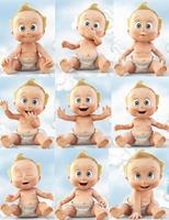 Baby Roger Poses Collage by BlazeHeartPanther