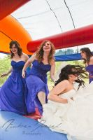 Wedding Bounce House Bride and Bridesmaids by a-girl-like-me