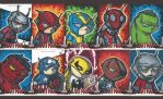 Ant-Man sketch cards by bdeguire