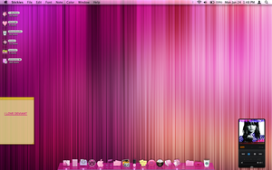 Hot pink mac desktop by tunerbarbie