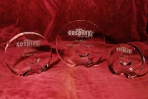 EuroCosplay 2012 Trophies by MCMComicCon