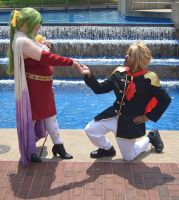 Terra Branford and Type-0 Cloud Strife by R-Legend