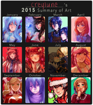 2015 Summary of Art by creylune
