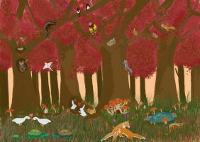 Kawaii world contest Frolic Forest by HesterK