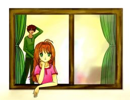 Sakura and Syaoran Yawning by wishluv