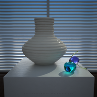 3D Glass Wish - Blue Cherries by THE-LEMON-WATCH