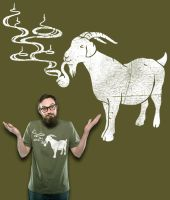 Smoking Goat Shirt Design by Mel2DaIssa