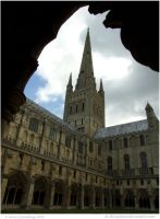 Norwich Cathedral Spire by In-the-picture