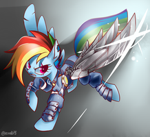 Rainbow Dash in different dimensions by RenoKim