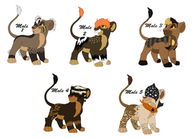 Male Lion Breedables and adoptables by TinyWolfy