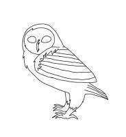 free owl lineart by Eaglefeather123