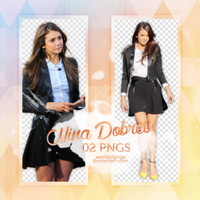 Pack png 307 - Nina Dobrev by worldofpngs