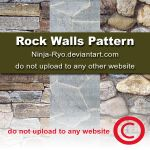 PS6 PATTERNS - Rock Walls by Ninja-Ryo