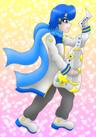 Vocaloids Kaito guitar colored by MikariStar