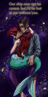 Ariel and Jim in space Valentine by iesnoth