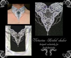 Victorian Bridal choker by redLillith