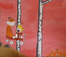 Calvin and Hobbes by FlagstaffTarzan