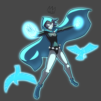 Blue lantern Raven by Turtleking900