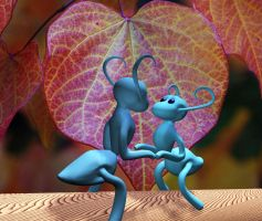 Ants in love by razzlepazzledoodot