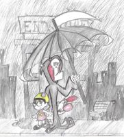 Under the Grim  Umbrella by Kenny-boy