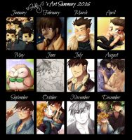 Art Summary 2016 by Isi-Daddy