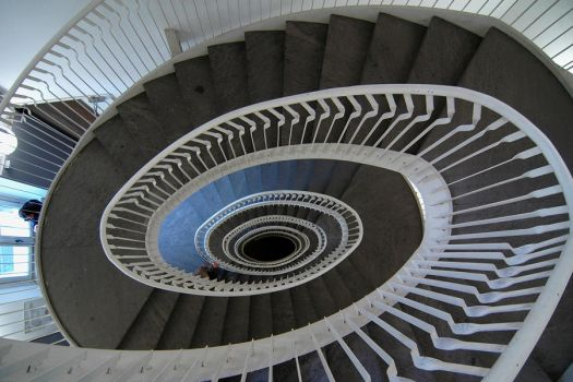 Swirling staircase by Ajakaty
