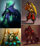 Dota 2 genderbends by Zummeng