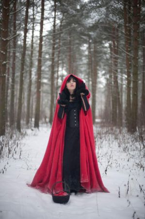 Red Riding Hood 5 - female stock by Dea-Vesta