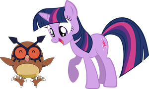 Twilight and hoot hoot by shirorinku
