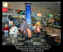 Food Court in the Near Future by EatingAndBreeding