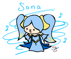 League Of Legends - Sona by dcheeky-angel