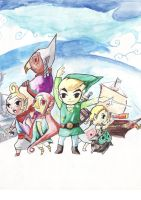 The legend of Zelda Wind Waker by Ital8